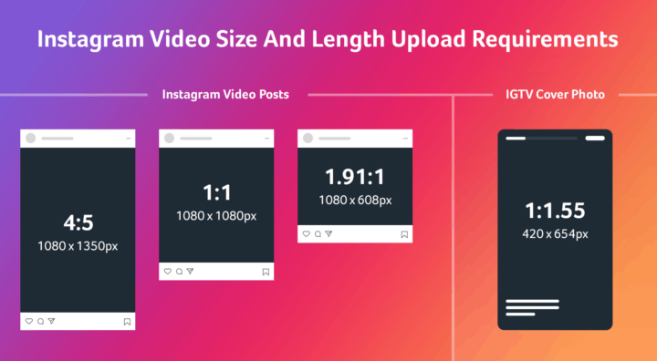 Instagram Video Size & Length Requirements